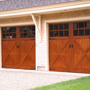 (2) 9x8 RT17 S Boston with Burnt Oak Stain doors