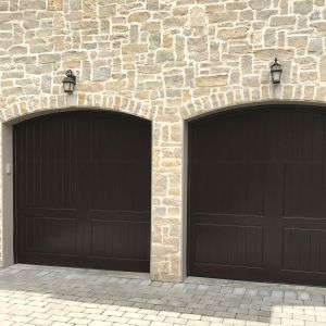 (2) EU 501 Luxembourg custom arch stained dark walnut
