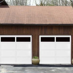 American Legends Recessed Panel Long Panel Open Lites On Contemporary Garage