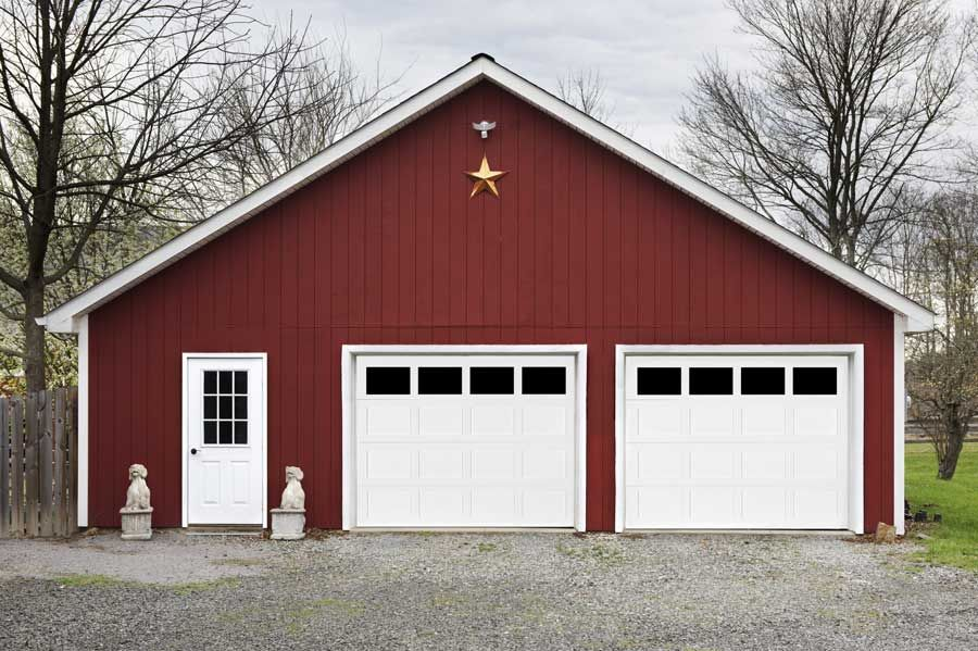 American Legends Recessed Panel Short Panel Open Lites On Red Barn